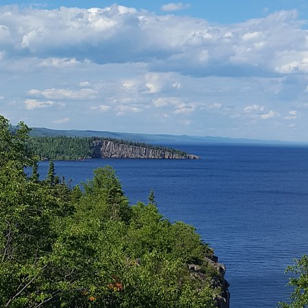 Beaver Bay, MN: View of shovel point from atop Palisade Head,