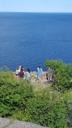 Beaver Bay, MN: Lower observation point