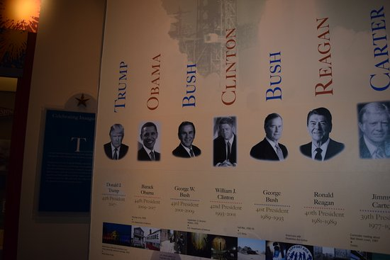 Cool timeline off all the presidents in the Hotel Harrington.
