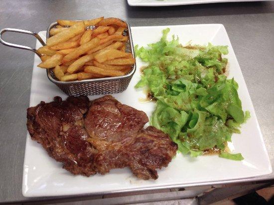 Teyran, Frankrike: Entrecôte & frites maison