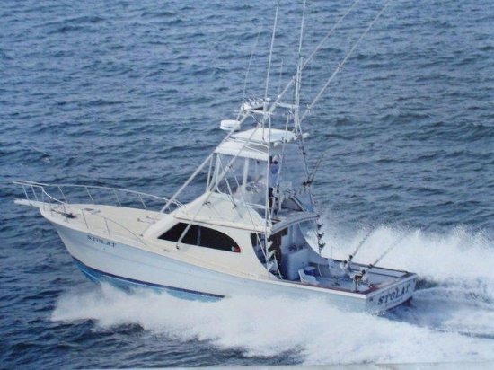 "Kitty Hawk, NC: 42' Topaz    fast, clean boat  Air conditioned cabin,  clean ""head"""
