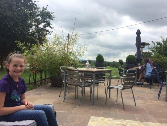 Alderminster, UK: waiting for dessert in the garden.