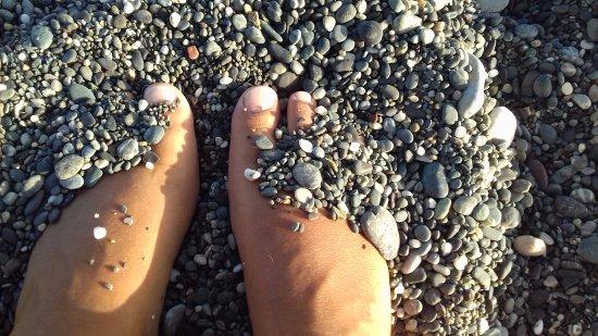 Koutsounari beach: taille du gravier de la plage