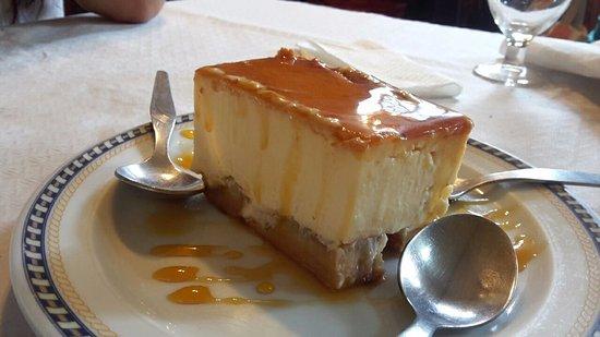 Restaurante Rincón Gomero: Quesillo de manzana con caramelo, delicioso