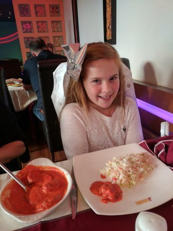As always both my daughter's enjoying their Saturday night curry at the Jeera Crich. I can highl