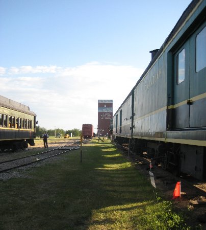 Big Valley Historical Society: View of grain elevator from train station
