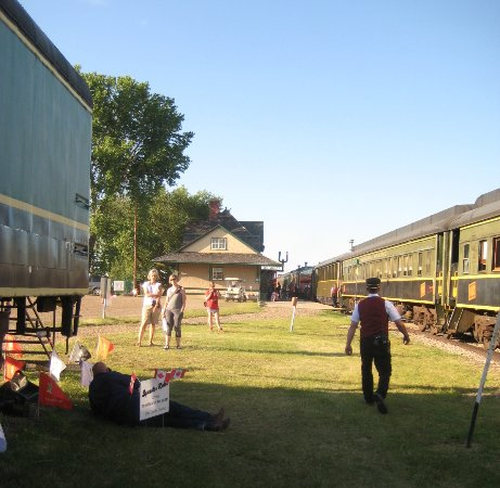 Big Valley Historical Society: View of train station with our APR train along side