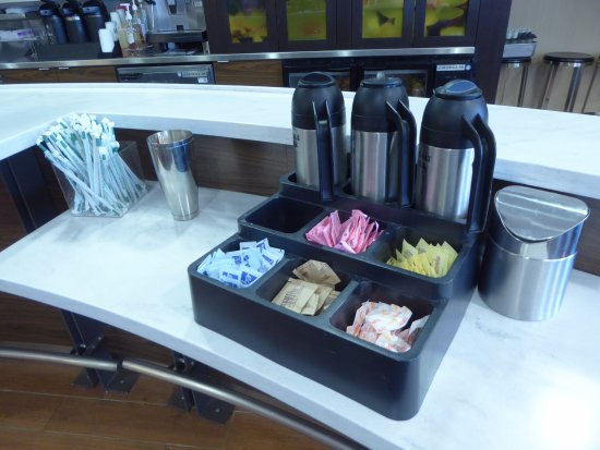 Courtyard Salisbury: Coffee Creamers And Sugar At Breakfast Only