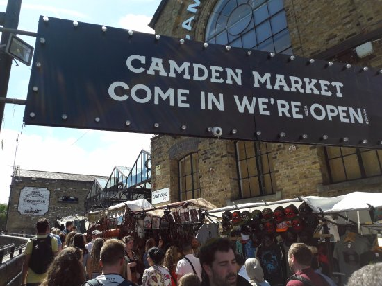 Camden Market: the main market, indoors and out