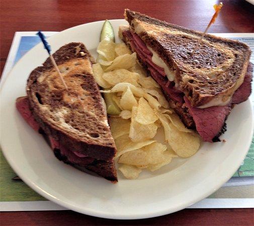 Sperryville, VA: Grilled Pastrami Sandwich