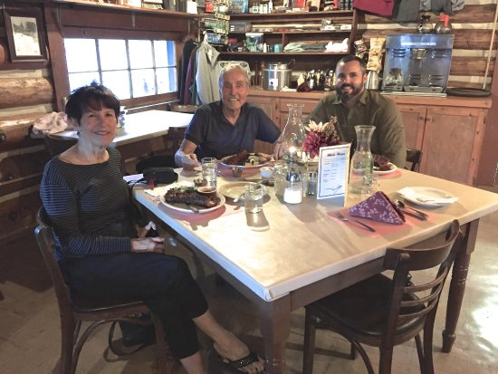 Sierra City, Californien: Our dinner at Packer Lake Lodge