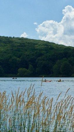 Wyoming, PA: Kayaks and Boats on The Lake at Francis Slocum