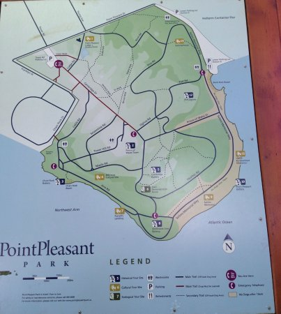 Point Pleasant Park Map Map of the park   Picture of Point Pleasant Park, Halifax