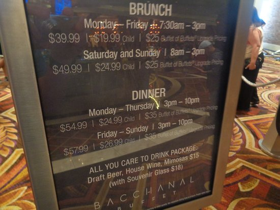 Prices And Hours Picture Of Bacchanal Buffet Las Vegas