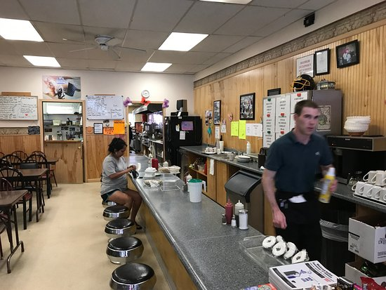 Canajoharie, NY: hustling waiter and the kitchen beyond