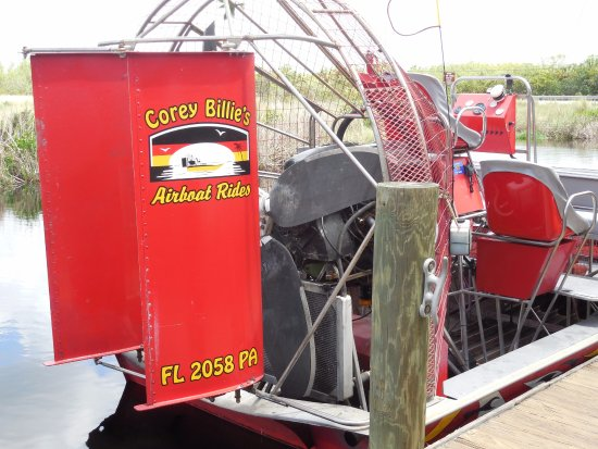 These airboats are powered by 500hp big block Chevy V-8s and