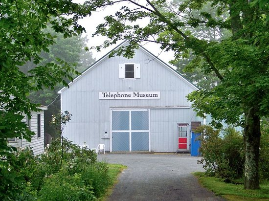 The Telephone Museum: From the street looking down the driveway.