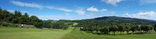 Dalbeattie, UK: The view from the first green