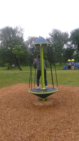 Sault Ste. Marie, Canada: my teen on one of the playgrounds