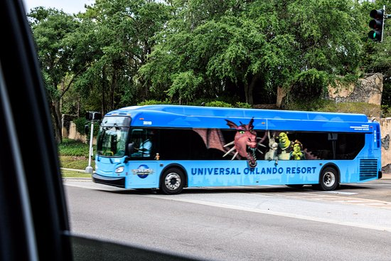 Hard Rock Hotel At Universal Orlando Bus From Portofino Heading To The Hrh And