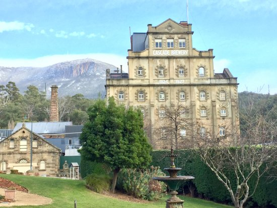 Cascade Brewery: Cascade brewhouse from gardens