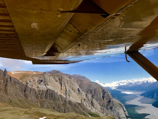 McCarthy, Alaska: Flying up to the Nizina Glacier to the start of our journey.