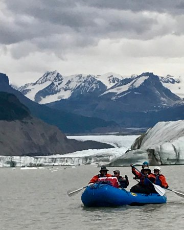 McCarthy, AK: On our way out of the glacial lake and on to the river.