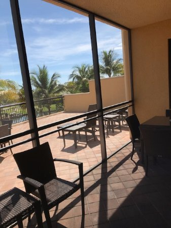 Screened in patio and expansive terrace