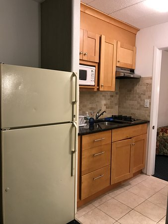 Compass Family Resort Motel: If you pay extra for a room with a kitchenette, this is what it looks like. It's worth the charg