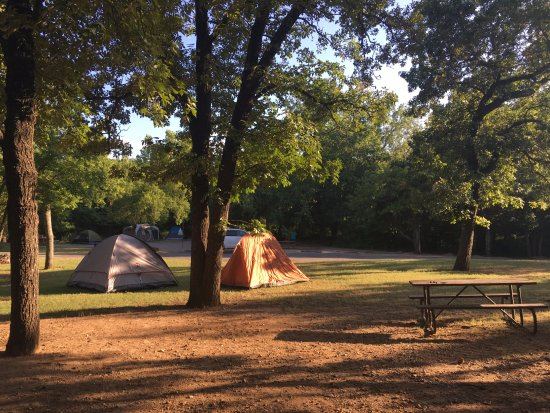Sulphur, OK: Campsite 66: tents up !