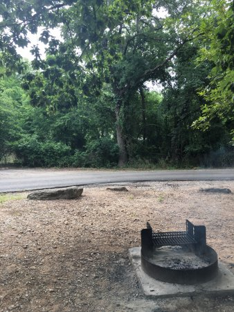 Sulphur, OK: campsite 66: fire pit and grill