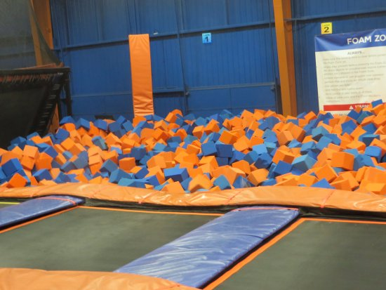 Sky Zone Trampoline Park: There is a kid in there somewhere