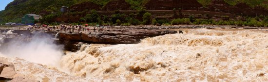 Ji County, Kina: Hukou Waterfall, ground level view