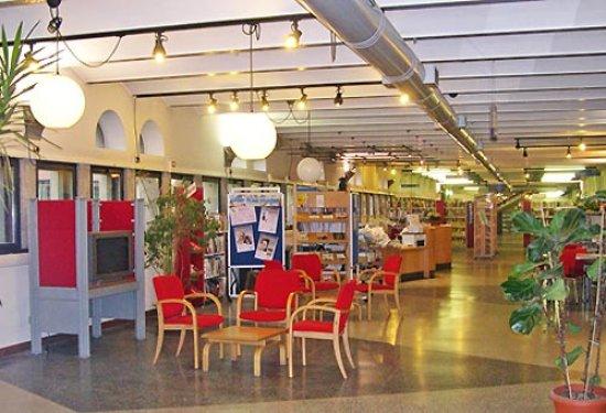 Rozzano, Itálie: Interno della biblioteca