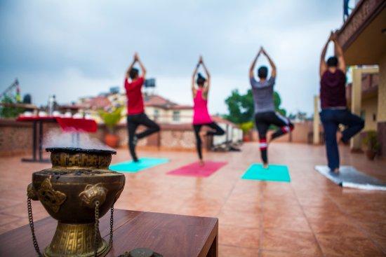 Shambaling Boutique Hotel : Yoga Terrace