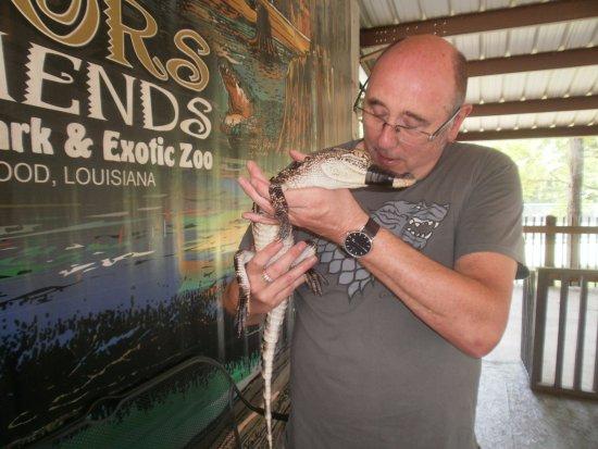 Greenwood, LA: Gator and friend
