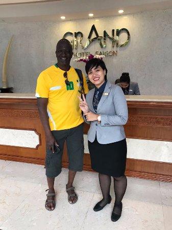 Grand Hotel Saigon: Monica, Front Desk Staff