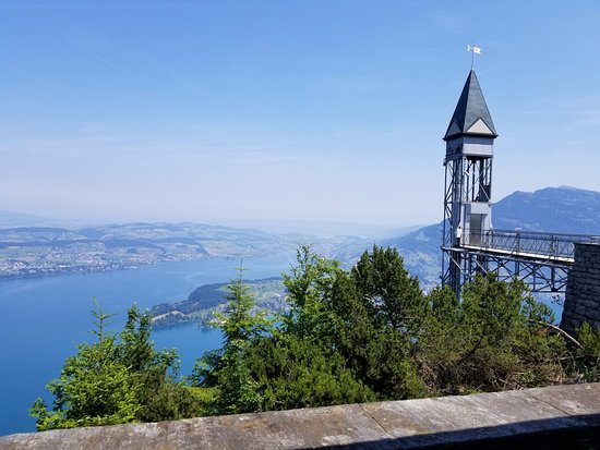 Burgenstock, Switzerland: This is the peak station of the Hammetschwand Lift