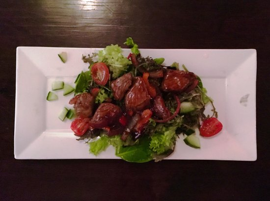 "Son en Breugel, The Netherlands: Beef sweet and sour salad, one of the dishes from the ""Tasting Experience""."