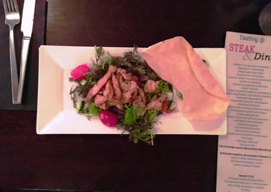 "Son en Breugel, The Netherlands: Thai chicken salad, one of the dishes from the ""Tasting Experience""."