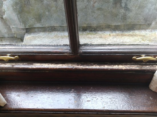 Gartmore House: Windows in need of repair and cleaning
