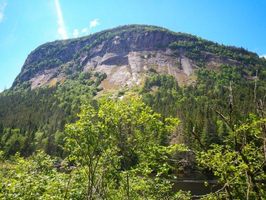 Saint-Raymond, Canada: Rock face from Neilson MTB trail