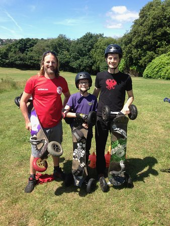 Board Riding Development Mountain Boarding Centre: With Ben at Parc Llewellyn
