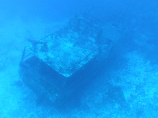 Bahia Divers: Pelicano wreck, 70ft fishing vessel, at around 36mtrs to the bottom.