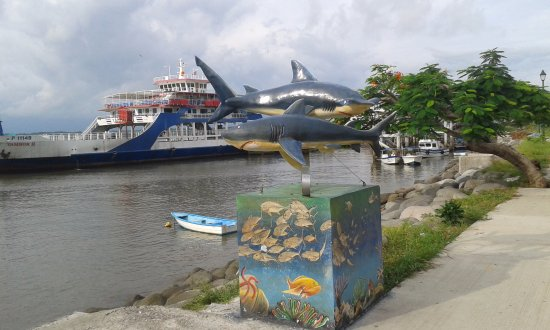 Province of Puntarenas, Costa Rica: Al frente del restaurante
