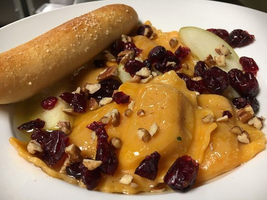 Rhinelander, WI: Our Butternut Squash Ravioli....It's on the menu