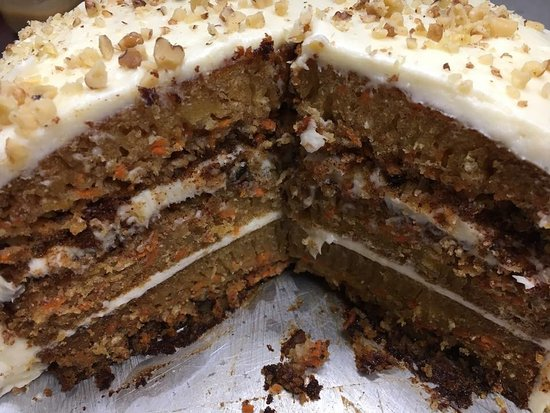 Rhinelander, WI: Three Layer Carrot Cake. Made fresh 4 -5 times weekly by our Head Chef & Baker