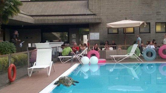 Area bar con piscina ed evento aperitivo tributo johnny for Piscina suzzani