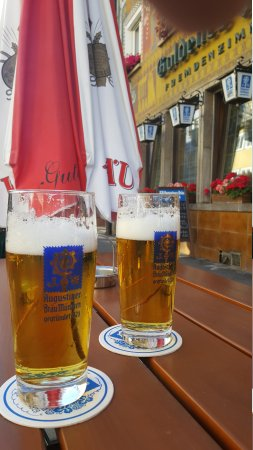 Hotel und Restaurant Goldenes Fass : Und dazu oder nur ein Augustiner vom Fass