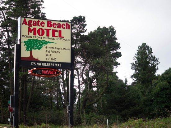 Agate Beach Motel: Oceanfront and located off the Pacific Coast Highway